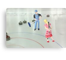 Well  Sally, what did you THINK I meant when I asked if you wanted to go curling???? Metal Print