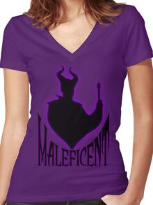 Maleficent Women's Fitted V-Neck T-Shirt