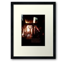 Chestnuts roasting by an open fire Framed Print