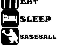 Eat Sleep Baseball by kwg2200