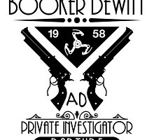 Booker DeWitt PI - Black by Adam Angold