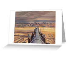 Oil Paintings : An Appropriation Project - Blood Indian Reserve Alberta Greeting Card