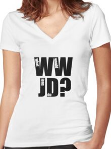 What Would Jens Do? Women's Fitted V-Neck T-Shirt
