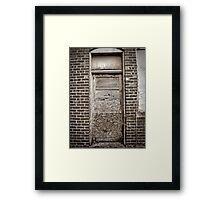 Door Of The Thin Man Framed Print