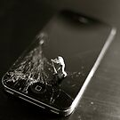 Broken smartphone by Louise Fahy