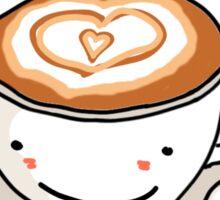 """love you a latte"" visual pun design Sticker"