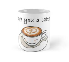 """love you a latte"" visual pun design Mug"