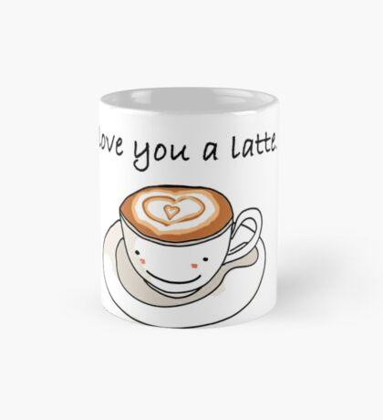"""love you a latte"" visual pun design Mug"