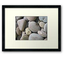 Rock Backgroud Framed Print