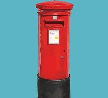 Red Post Box by Unseen Emporium