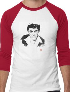tony montana Men's Baseball ¾ T-Shirt
