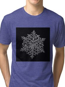 Majestic crystal, real snowflake macro photo Tri-blend T-Shirt