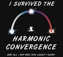 I survived the Harmonic Convergence- dark shirt design by tehmomo