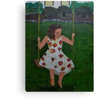 Little Southern Belle on a Swing Canvas Print
