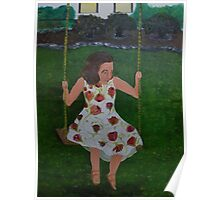 Little Southern Belle on a Swing Poster