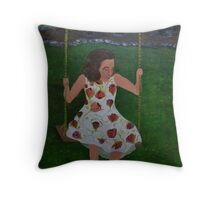 Little Southern Belle on a Swing Throw Pillow