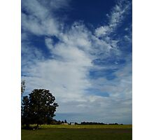 Clouds Above The Farm Photographic Print