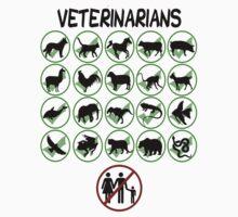 Veterinarians Don't Do Humans (Dark) T-Shirt