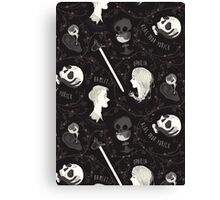 Shakespearean pattern - Hamlet Canvas Print