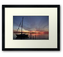 Sunset in Biloxi Ms Framed Print