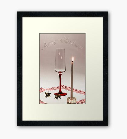 First candle for Christmas Framed Print