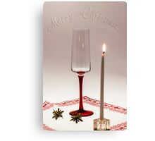 First candle for Christmas Canvas Print