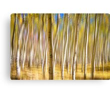 Surreal Aspen Tree Abstract Canvas Print
