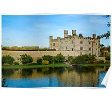 Leeds Castle with moat Poster