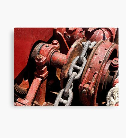 The old windlass........! Canvas Print