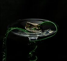 Green ribbon and small ring by katarina86