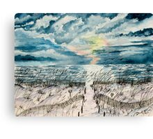 beach sunset art print Canvas Print