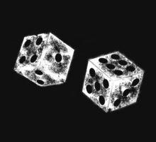 dice white by JJImagearts