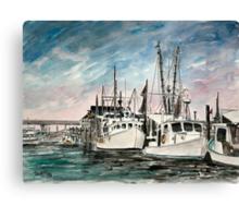 boats nautical art print Canvas Print