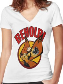 BEHOLD! Women's Fitted V-Neck T-Shirt