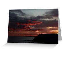 Headland Sunset 2 Greeting Card