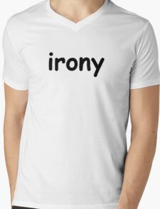 Irony Mens V-Neck T-Shirt