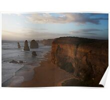 Sunset over the Twelve Apostles 2 Poster