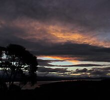 D'Entrecasteaux Channel Sunset by Al Russell