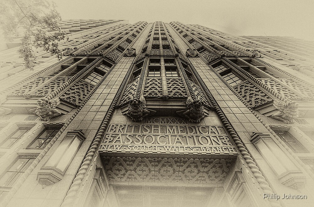 British Medical Association Building c 1930 - Macquarie Street Sydney - The HDR Experience by Philip Johnson