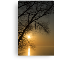 The Rising Sun and the Tree Canvas Print