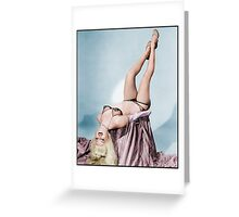 Burlesque - ish vintage model Colorized Greeting Card