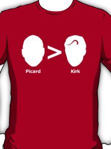 Picard > Kirk T-Shirt