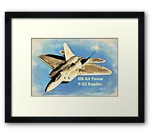 US Air Force F-22 Raptor Manga Framed Print
