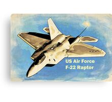 US Air Force F-22 Raptor Manga Canvas Print