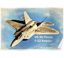 US Air Force F-22 Raptor Manga Poster