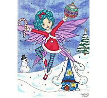 Merry Fairy Christmas Photographic Print
