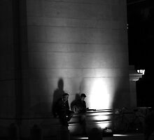 Music Under the Arch. B&W by Amanda Vontobel Photography/Random Fandom Stuff