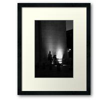 Music Under the Arch. B&W Framed Print