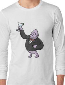 Martini Gorilla Long Sleeve T-Shirt