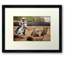 Flying Dust Framed Print